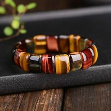 Beads Bangles Bracelets Handmade Colorful Tiger Eyes Natural Stone