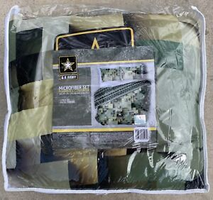 New Army Green Digital Camouflage Comforter Set Full Queen 3 Piece Fast Ship