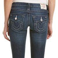 True Religion Women's Julie Skinny Leg w/ Flap Jeans in Lost Lagoon (27, 28, 30)
