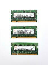 Hynix Laptop Memory 3 x 512MB MHz DDR2 SODIMM PC2-4200 PC2-5300 666 533MHz RAM