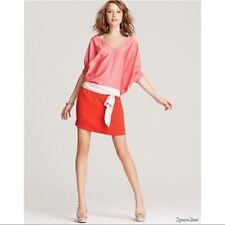 AS NEW DVF Diane von Furstenberg 'Edna' Silk Colorblock Dress - US 4, AU 8-10
