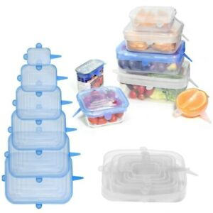 Silicone Stretch Rectangle lids keep food fresh THICKER +LONG LASTING UK SELLER