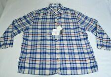 Ines De La Fressange Uniqlo Linen Cotton Madras Check Plaid Shirt Jacket XL NWT