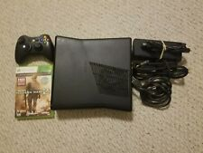Xbox 360 S Slim Console 250GB HDD w/ Controller And Game Tested Black