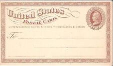 UNITED STATES 1873 1c LIBERTY HEAD POSTAL CARD; SCOTT UX3 (MINT)
