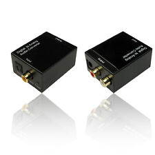TOSLINK Digital to RCA/ Phono Analogue Audio Converter & 1m Toslink Cable/ Lead