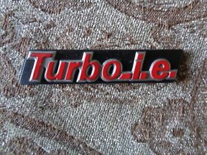 FIAT Uno Turbo ie logo symbol brand new
