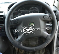 Pour Land Rover Discovery I 89-98 Véritable Noir Housse Volant Cuir