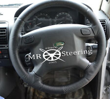FOR LAND ROVER DISCOVERY I 89-98 REAL BLACK LEATHER STEERING WHEEL COVER