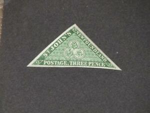 CANADA-NEWFOUNDLAND, SCOTT# 3 VF CENTERING, MINT LIGHT HINGE