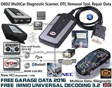 WOW snooper+BT OBD2 diagnostic scanner DS150 EQUIVALENT vci 3 free software2016