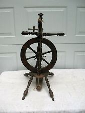 """Early 1800's Young Woman's Small 24"""" Antique Spinning Wheel - Pencil Signature"""