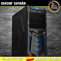 Caja ATX Ordenador Pc Gaming de Sobremesa Torre Devil Azul USB Frontal S/Fuente