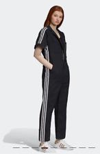 adidas Originals by Fiorucci Loose Fit Short Sleeve Jumpsuit Womens Large Black