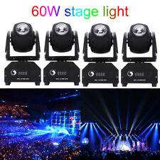 4X 60W Spot Beam LED Moving Head Light DMX512 Disco Wedding Party Stage Lighting