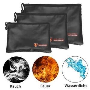 Feuerfeste Dokumententasche Geldkassette Feuersichere feuerfest Wasserdicht Neu