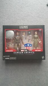 Hasbro - Marvel Legends - Captain America & Peggy Carter Action Figures