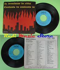 LP 45 7'' MARIO BATTAINI Se bruciasse la citta'Contenta tu contento no cd mc dvd