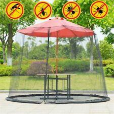 Outdoor Garden Umbrella Table Screen Parasol Mosquito Net Cover Bug Netting