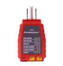 110V 120V Power Plug Socket Outlet Tester Polarity Checker Platinum Tools T301C