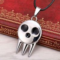 Anime Soul Eater Death The Kid Skull Logo Necklace Chian Cosplay Loose