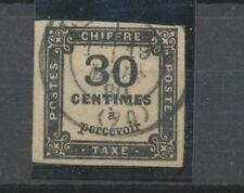 FRANCE Taxe N°6 30c noir Obl Cote 160 € signé BRUN TB P3635