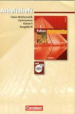 Focus Mathematik Arbeitsheft, Klasse 5, Ausgabe N, neu mit CD (mit Lösungen)
