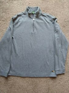 Boys Hugo Boss Long Sleeved Grey & White Top Size Small