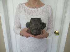 Authentic Moche ( Pre Columbian ) Jaguar Diety Head Vessel ( Xibalba Coa )