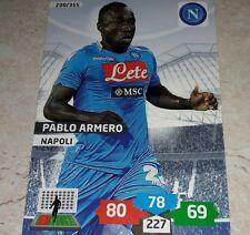 CARD ADRENALYN 2013/14 CALCIATORI PANINI NAPOLI ARMERO CALCIO FOOTBALL