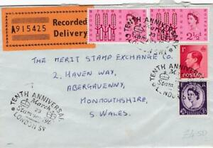 GB 1963 RECORDED DELIVERY COVER FOR STAMPEX ANNIVERSARY RANGE OF STAMPS