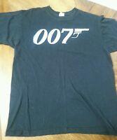 007 James Bond Like Logo T shirt Movie Retro Men's Shirt Large Anvil