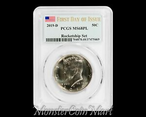 2019-D Kennedy Half Dollar PCGS MS68PL FIRST DAY OF ISSUE - ROCKETSHIP SET