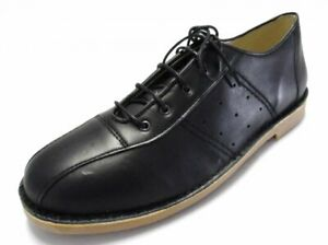 Ikon Original Mens Leather Black Marriott Mod 60S Style Bowling Shoes