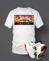 Custom T-shirt To match Hare Air Retro Jordan  Size S-7XL White Pro Club Tee