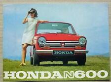 Honda N360, N600 y S800 COCHE FOLLETO de ventas c1969 texto en francés