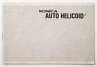 Bedienungsanleitung Konica Auto Helicoid AR Instruction Anleitung