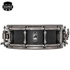 "NEW Mapex BLACK PANTHER Black Widow 14"" Maple Snare Drum BPML4500LNTB Trans Back"