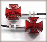 [X2 pcs] 1 paire de clignotants Croix De Malte LED - NEUF ( moto custom trike )