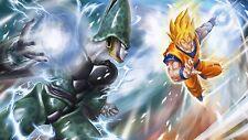 Poster 42x24 cm Dragon Ball Goku Saiyan Vs Celula Cell