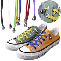 1Pair Easy No Tie Lazy Shoelaces Sneaker Elastic Rubber Flat Shoe Laces Strings