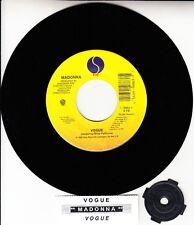 "MADONNA Vogue 7"" 45 rpm vinyl record NEW + juke box title strip"