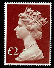 SG1027, £ 2 Light Emerald e Viola-Marrone, unmounted Nuovo di zecca.