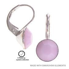 pendientes con elementos de Swarovski, Color: Rosa Alabastro