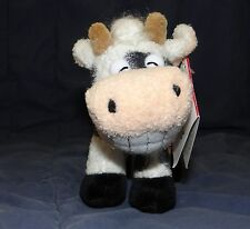 "5"" Russ Berrie Plush GRINNIES COW NWT NEW Has a Toothy Grin"