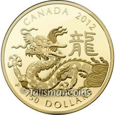 Canada 2012 Year of the Dragon $150 Gold Proof 18k