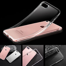 Shockproof 360° Silicone Protective Clear Case Cover For Apple iPhone 7 -SA