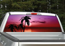 Beach Palm Trees #11 Tropical Sunset Rear Window Decal Graphic for Truck SUV