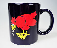I Must go to the Worms, don't come to me Blue Ceramic Cup Chicken Motivation