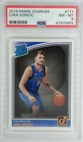2018-19 Panini Donruss Rated Rookie Luka Doncic Rookie RC #177, Graded PSA 8